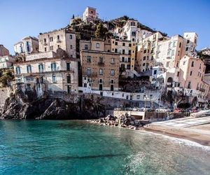 italy, sea, and landscape image