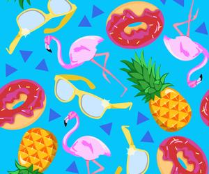animal, donut, and flamingo image