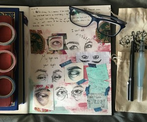 art, eyes, and journals art image