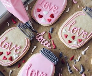 Cookies, love cookies, and Valentine's Day image