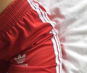 adidas, pants, and red image