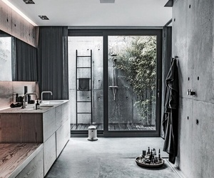 interior, bathroom, and shower image