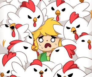 link, Chicken, and the legend of zelda image