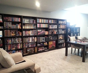 awesome, books, and bookshelf image