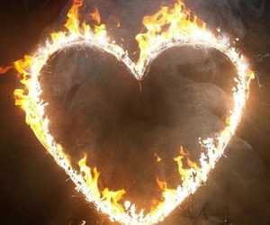 theme, fire, and heart image