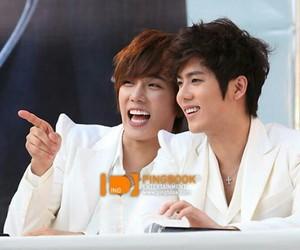 kim hyun joong, park jung min, and kim kyu jon image