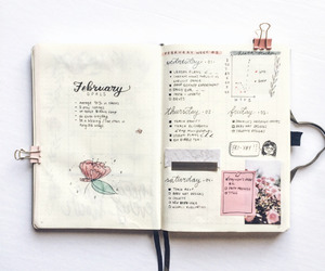 art, journal, and study image
