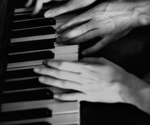 piano, music, and couple image