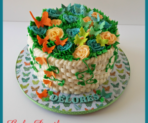 birthday cake, butterfly cake, and rockland county cakes image
