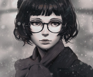 guweiz, art, and black and white image
