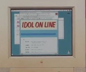 anime, computer, and idol image