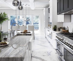 food, kitchen, and marble image