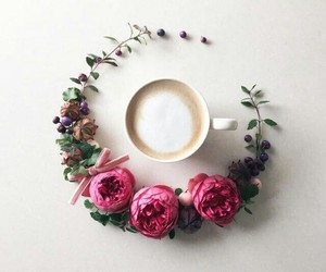 coffee, spring, and flowers image