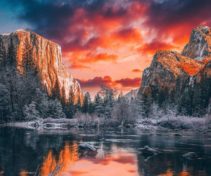 nature, winter, and mountains image