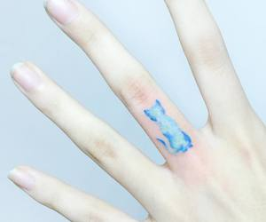 art, artsy, and blue ink image