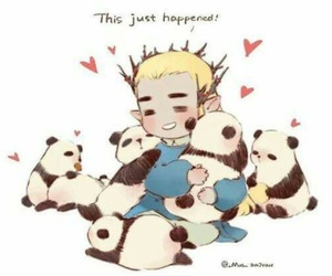 lee pace, pandas, and thranduil image