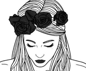 312 Images About Chicas En Blanco Y Negro Dibujos On We Heart It