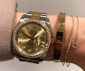 gold, rolex, and luxury image