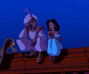 disney, aladdin, and love image