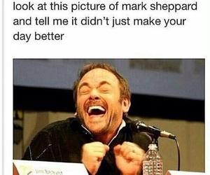 supernatural, funny, and mark sheppard image