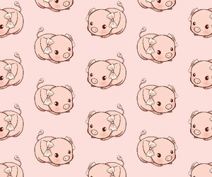 baby pig, background, and kawaii image