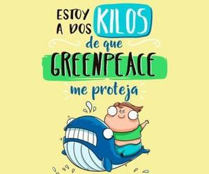 dieta, humor, and greenpeace image