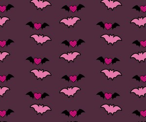 background, bat, and heart image