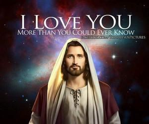 love, jesus, and god image