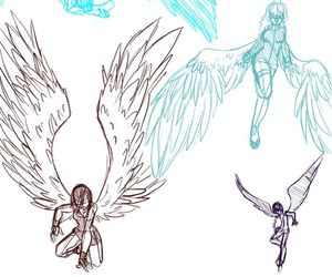 wings, angel, and art image