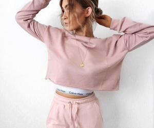 bralette, cropped sweatshirt, and outfit goals image