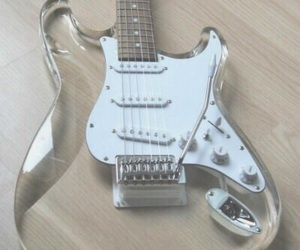guitar, music, and pale image