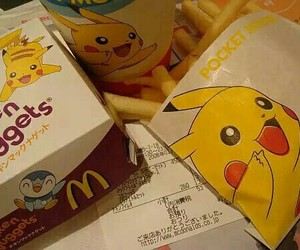 pikachu, pokemon, and McDonalds image