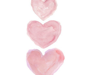 art, colour, and hearts image