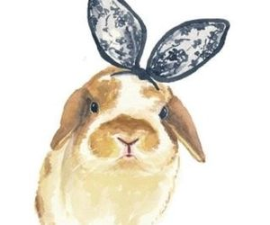 art, bunny, and colour image