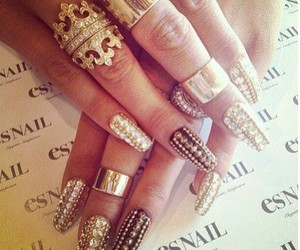 diamond, in love, and nail art image
