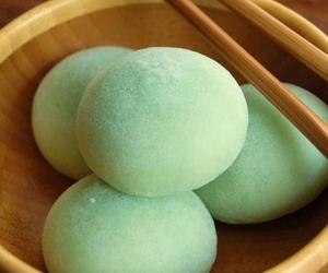 food, mochi, and green image