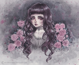 anime, fantasy, and goth image