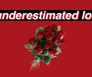 red, rose, and love image