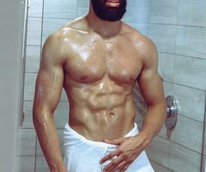 abs, black men, and yummm image
