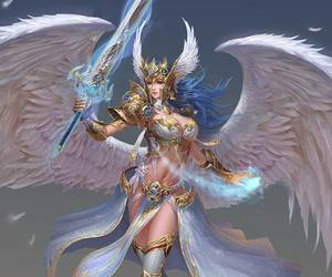 angel, angels, and art image