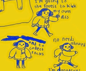 art, funny, and yellow image