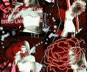 grunge, neon, and Taylor Swift image