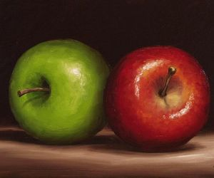 apples and painting image