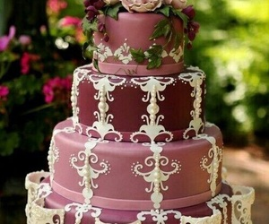cake, wedding cake, and purple image