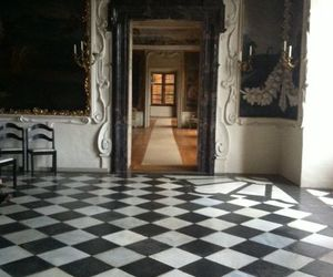 castle and checkered floor image