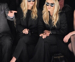 fashion, olsen, and black image