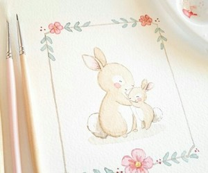 art, bunny, and doodle image