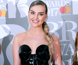 red carpet, brits, and perrie edwards image