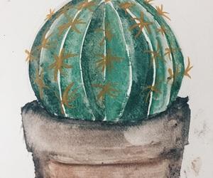 acuarela, art, and cactus image