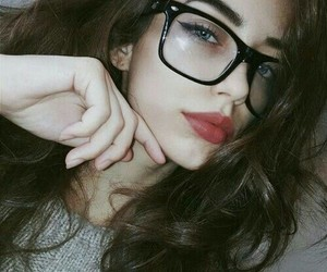 girl, glasses, and eyes image